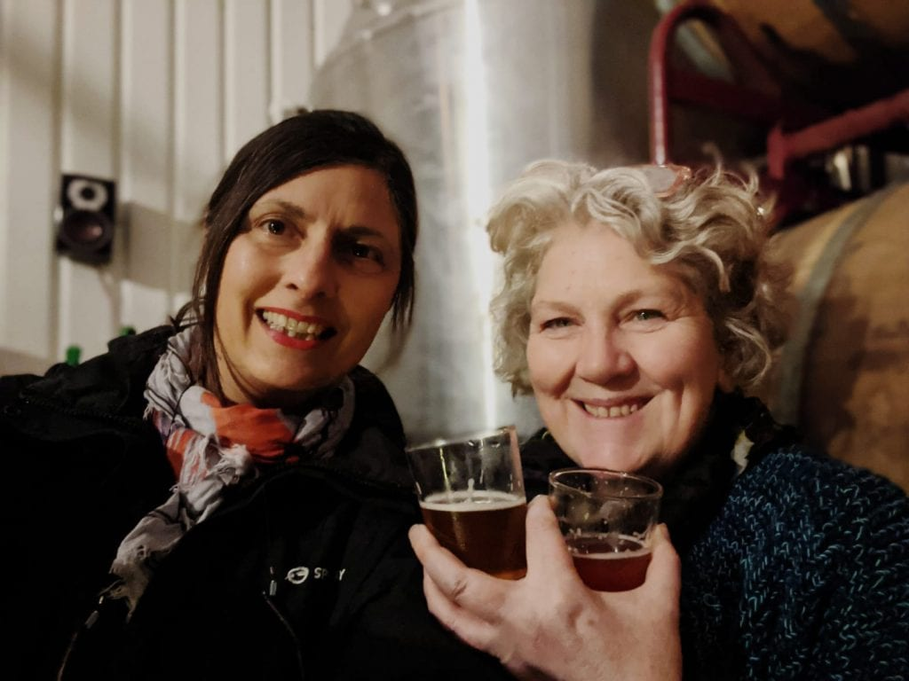 Tracy and Julie at Bermondsey Beer Mile