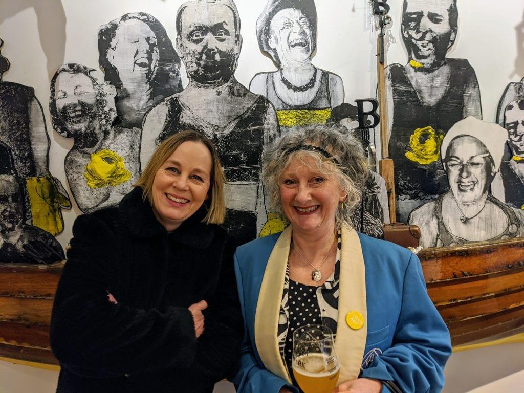 Teresa Grimaldi and Sarah Vardy With their galumphing installation